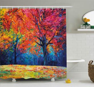Seasonal Art Picture Shower Curtain