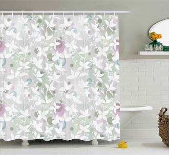 Vintage Seamless Pattern Shower Curtain