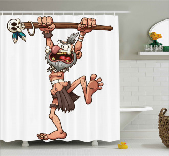 Witch Doctor Magician Shower Curtain