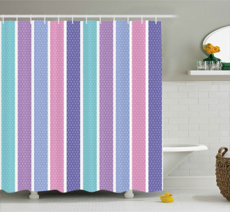Polka Dot with Stripes Shower Curtain
