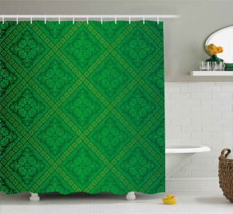 Vector Foliage Pattern Shower Curtain