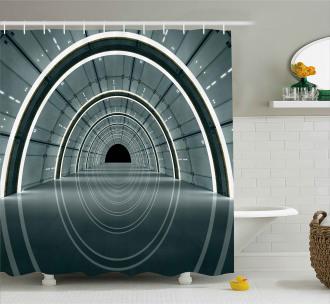 Futuristic Interior Shower Curtain