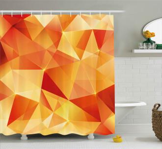 Orange Triangles Art Shower Curtain