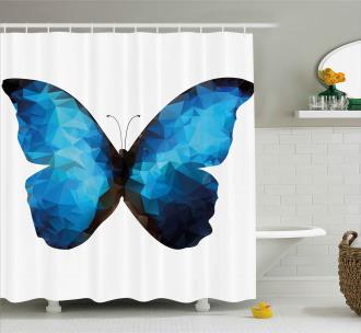 Modern Blue Ombre Shower Curtain
