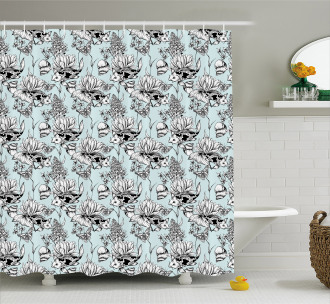 Pond Water Flowers Shower Curtain
