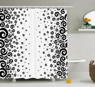 Abstract Ornamental Shower Curtain