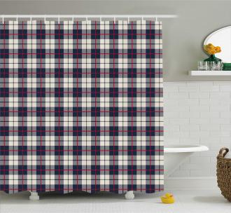 Square Geometric Shape Shower Curtain