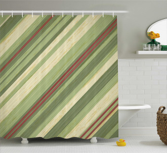 Diagonal Stripes Grungy Shower Curtain