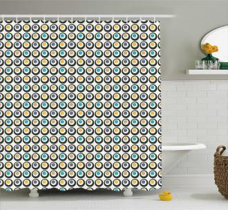 Bold Circles Polka Dots Shower Curtain
