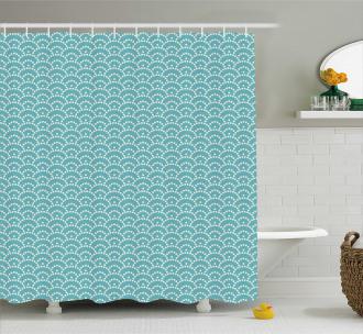 Bubbles Japanese Shower Curtain
