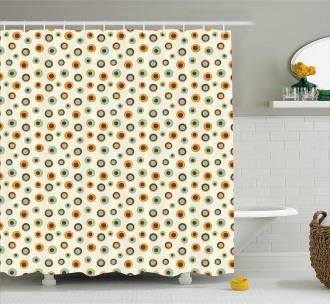 Circles Big Small Dots Shower Curtain