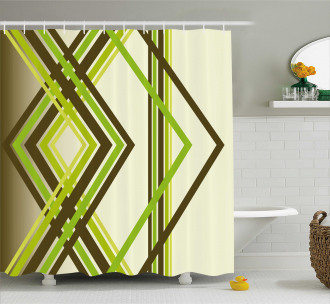 Trippy Diamond Shapes Shower Curtain