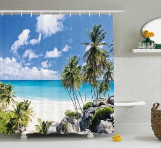 Barbados Beach Ocean Shower Curtain