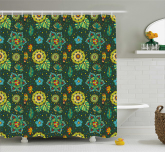 Fantasy Colorful Festive Shower Curtain