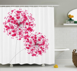 Abstract Dandelion Artwork Shower Curtain