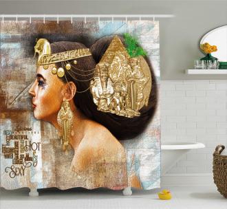 Queen Cleopatra Artful Shower Curtain