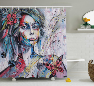 Fantasy Portrait of a Girl Shower Curtain