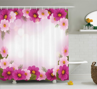 Romantic Daisies Framework Shower Curtain