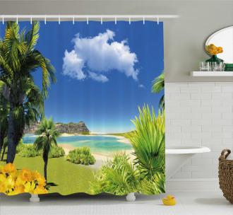Paradise Palms Island Shower Curtain
