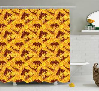 Ocean Island Palms Shower Curtain