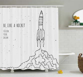 Dream Space Lover Quote Shower Curtain