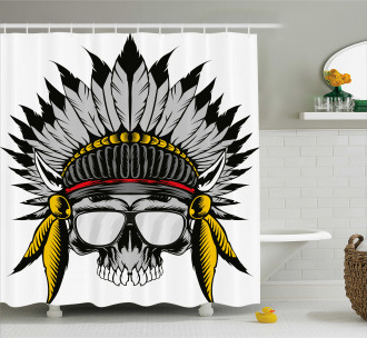 Tribe Leader Feather Head Shower Curtain