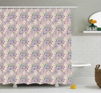 Farm Flower Lilacs Bloom Shower Curtain