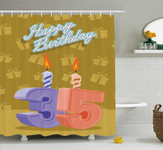 Artistic Candles Shower Curtain
