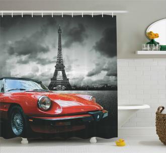 Romantic City Paris Shower Curtain