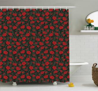 Mystic Rose Swirls Shower Curtain