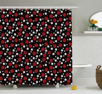Snow Like Polka Dots Shower Curtain