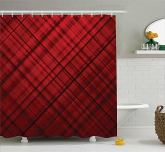 Scottish Kilt Pattern Shower Curtain