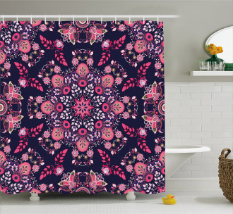 Ethnic Spring Blossoms Shower Curtain