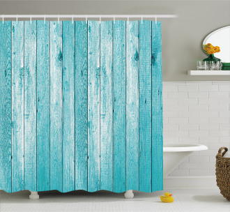 Aged Old Wooden Planks Shower Curtain