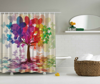 Colorful Spring Tree Shower Curtain