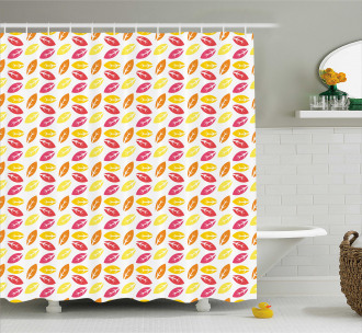Colorful Falling Leaves Shower Curtain