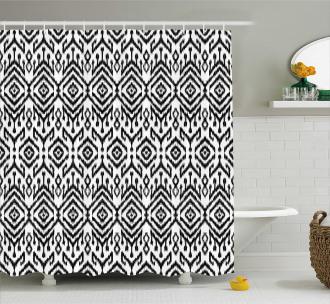 Scribble Ikat Art Shower Curtain