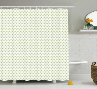 Vintage Retro Polka Dots Shower Curtain