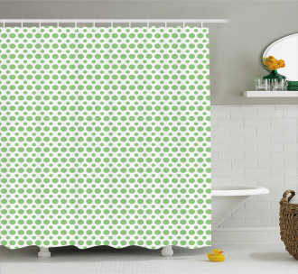 Pop Art Retro Style Dots Shower Curtain
