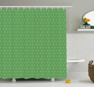 60s Retro Vintage Dots Shower Curtain