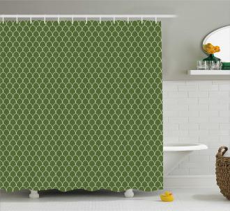 Geometric Wave Like Shape Shower Curtain