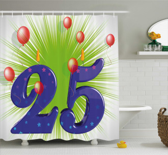 Twenty Five Stars Shower Curtain