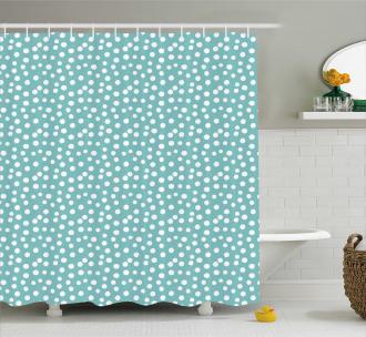 Polka Dots Romantic Art Shower Curtain