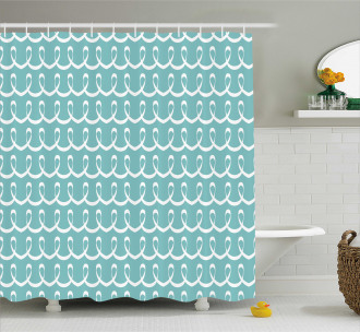 Festive Curved Lines Shower Curtain