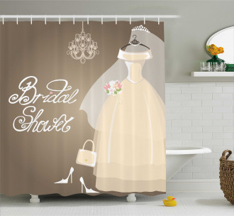 Love Bride Party Shower Curtain