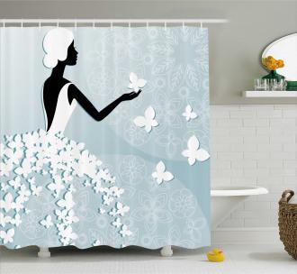 Butterfly Dress Shower Curtain