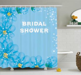 Bridal Flowers Shower Curtain