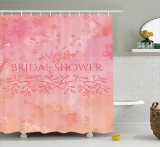 Bride Invitation Shower Curtain