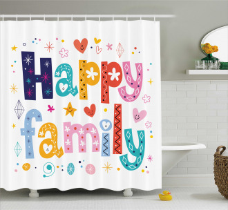 Happy Family Floral Shower Curtain