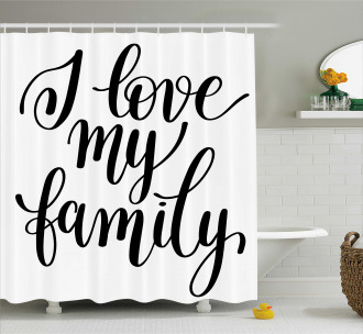 Artistic Family Writing Shower Curtain